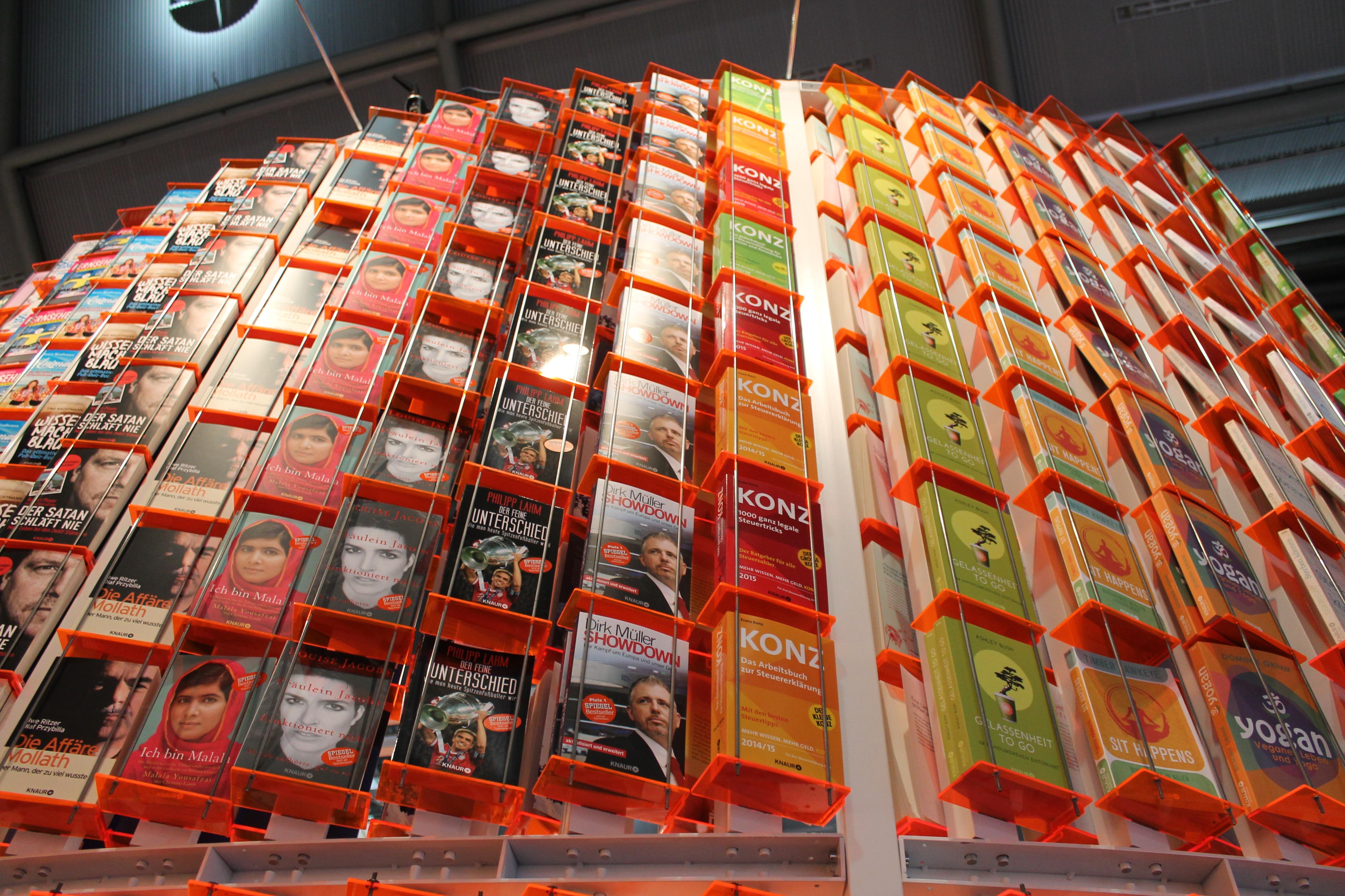 Stand von Droemer Knauer bei der Frankfurter Buchmesse