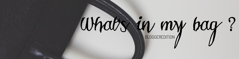 [Blogparade] What's in my bag?